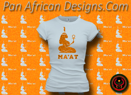 Women's Pale and Gold Maat T-Shirts with Glitter