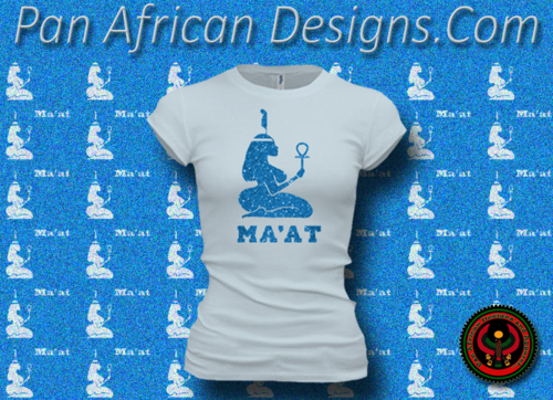 Women's Pale and Royal Blue Maat T-Shirts with Glitter