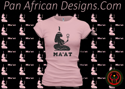 Women's Pink and Black Maat T-Shirts with Glitter