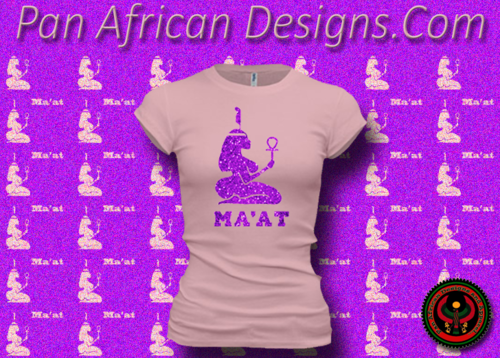 Women's Pink and Hot Pink Maat T-Shirts with Glitter