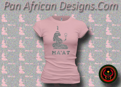 Women's Pink and Silver Maat T-Shirts with Glitter