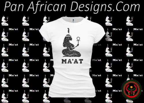 Women's White and Black Maat T-Shirts with Glitter
