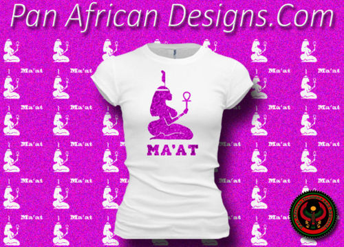 Women's White and Hot Pink Maat T-Shirts with Glitter