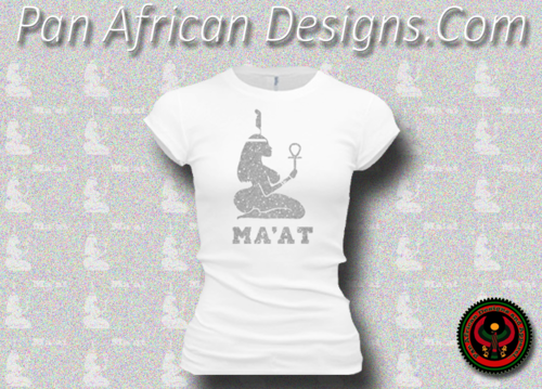 Women's White and Silver Maat T-Shirts with Glitter