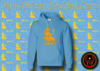 Women's Baby Blue and Gold Ma'at Hoodie with Glitter