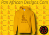 Women's Gold and Gold Ma'at Hoodie with Glitter