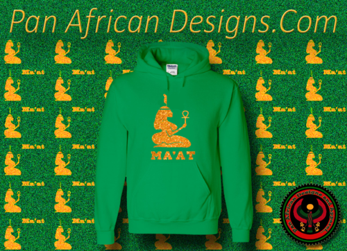 Women's Irish Green and Gold Ma'at Hoodie with Glitter