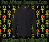 Men's Black Heru Long Sleeve Collared Shirt