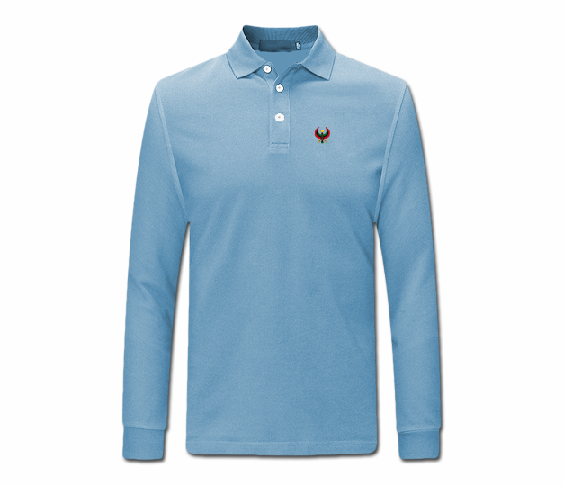 97f98069bda Men Baby Blue Heru Long Sleeve Collared Shirt - Pan African Designs