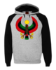 Men's Heru Black and Heather Grey Hoodie