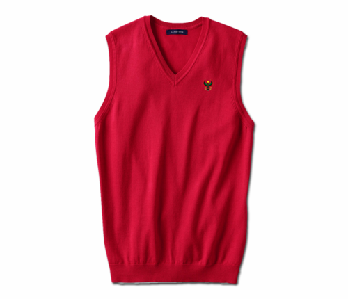 Men's Red Heru Sweater Vest