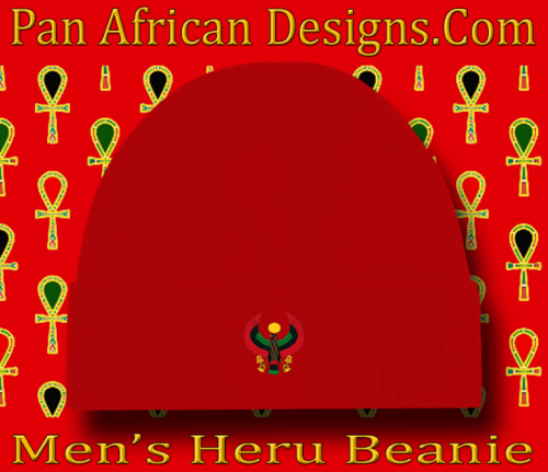 Men's Red Heru Beanie