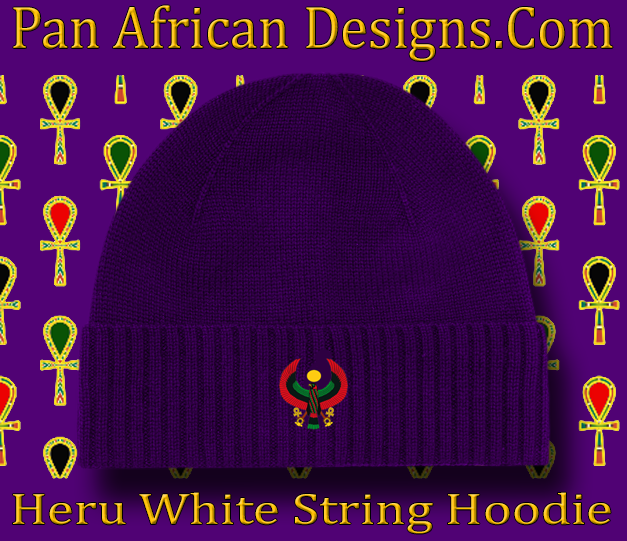 Men s Purple Heru Beanie - Pan African Designs 05452698157