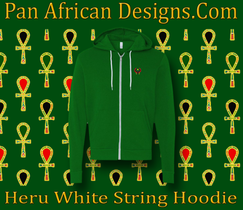 Kelly Green White String Heru Hoodie