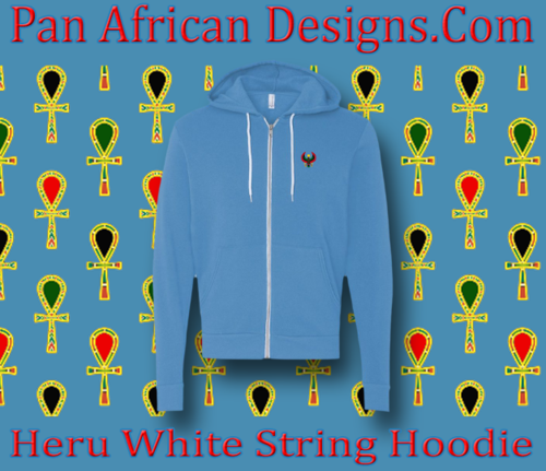 Carolina Blue White String Heru Hoodie