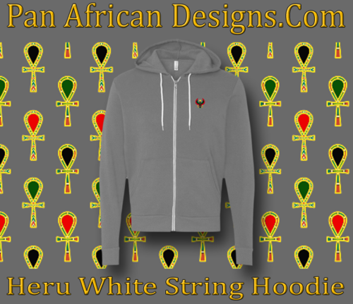 Dark Heather White String Heru Hoodie