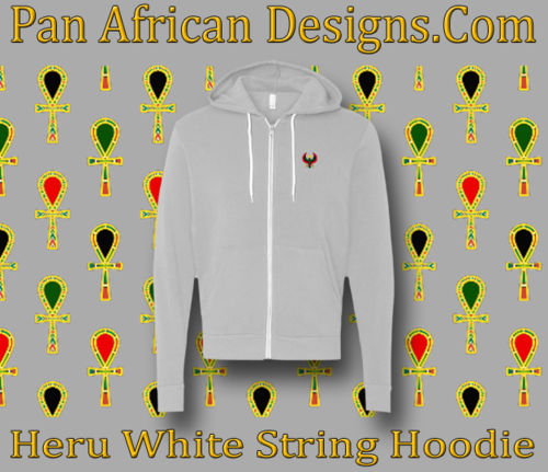 Athletic Grey White String Heru Hoodie