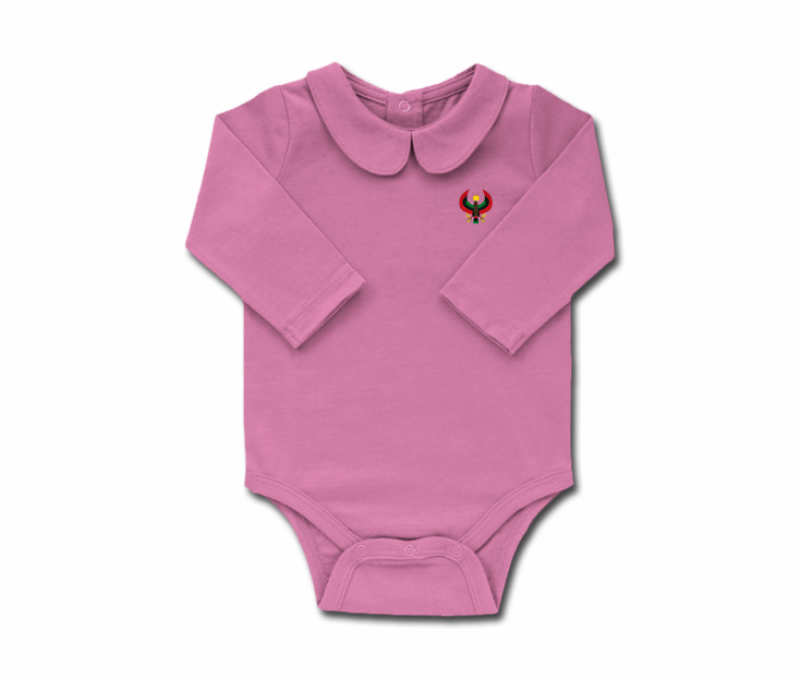 ff15e4adf Girls Lilac Toddler Long Sleeve Heru Collar Onesie - Pan African Designs