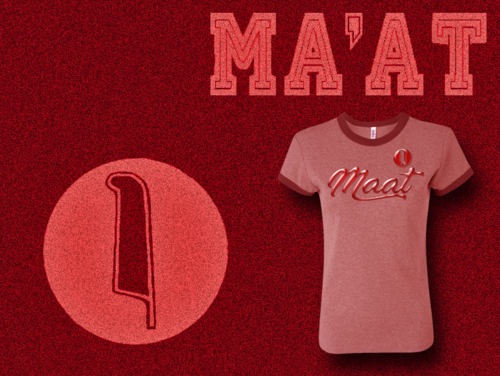 Women's Heather Pink and Cardnal Ma'at Ringer T-Shirts with Foil