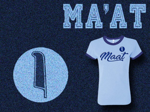 Women's Baby Blue and Navy Blue Ma'at Ringer T-Shirts with Foil
