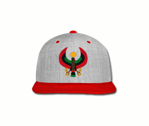 Men's Heather Grey and Red Heru Snap Back
