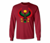 Men's Maroon Heru Long Sleeve T-Shirts