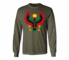 Men's Military Green Heru Long Sleeve T-Shirts