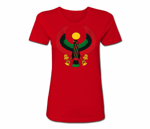Women's Red Regular Fit Heru T-Shirt