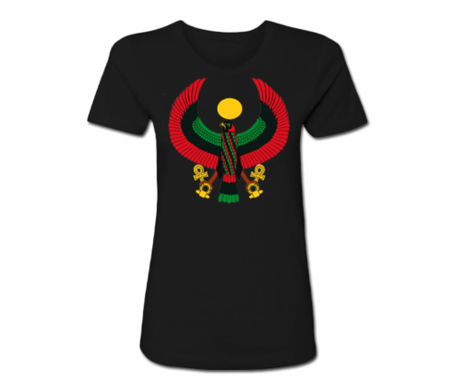 Women's Black Heru Regular Fit T-Shirt