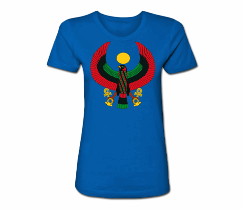 Women's Royal Blue Heru Regular Fit T-Shirt