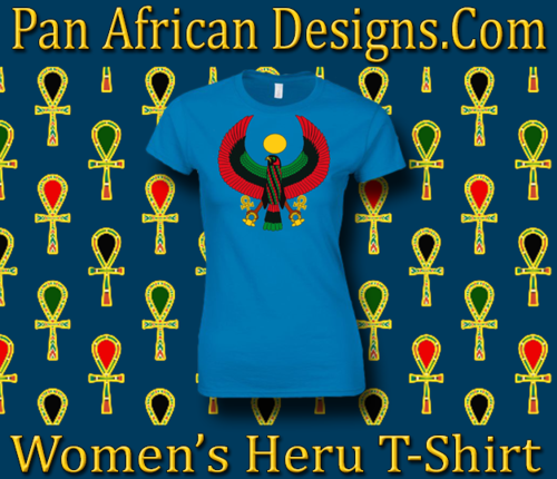 Women's Heru Sapphire Blue Regular Fit T-Shirt