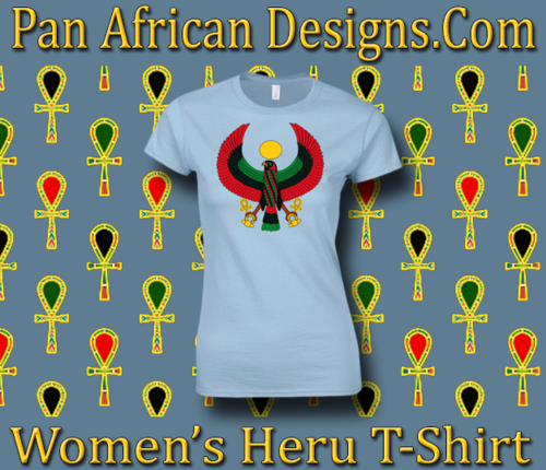 Women's Heru Light Blue Regular Fit T-Shirt
