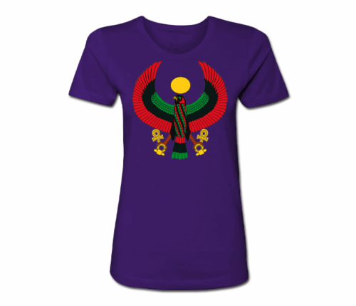Women's Purple Heru Regular Fit T-Shirt