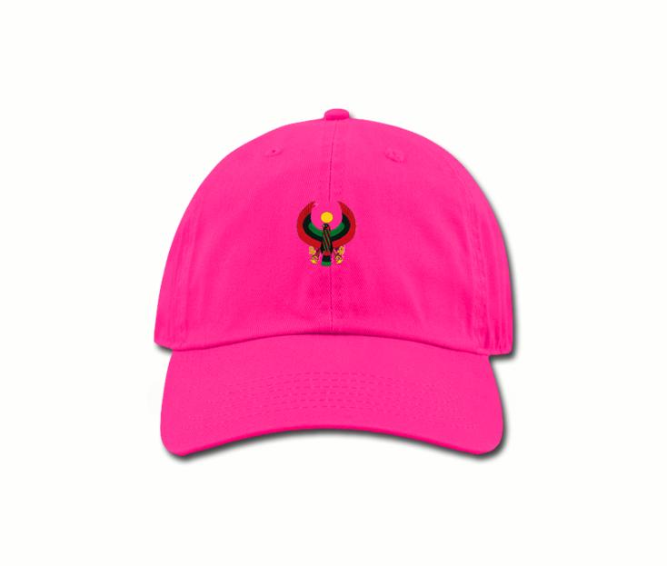 Women s Hot Pink Mama (Dad) Hats - Pan African Designs 8d9bb699ee0