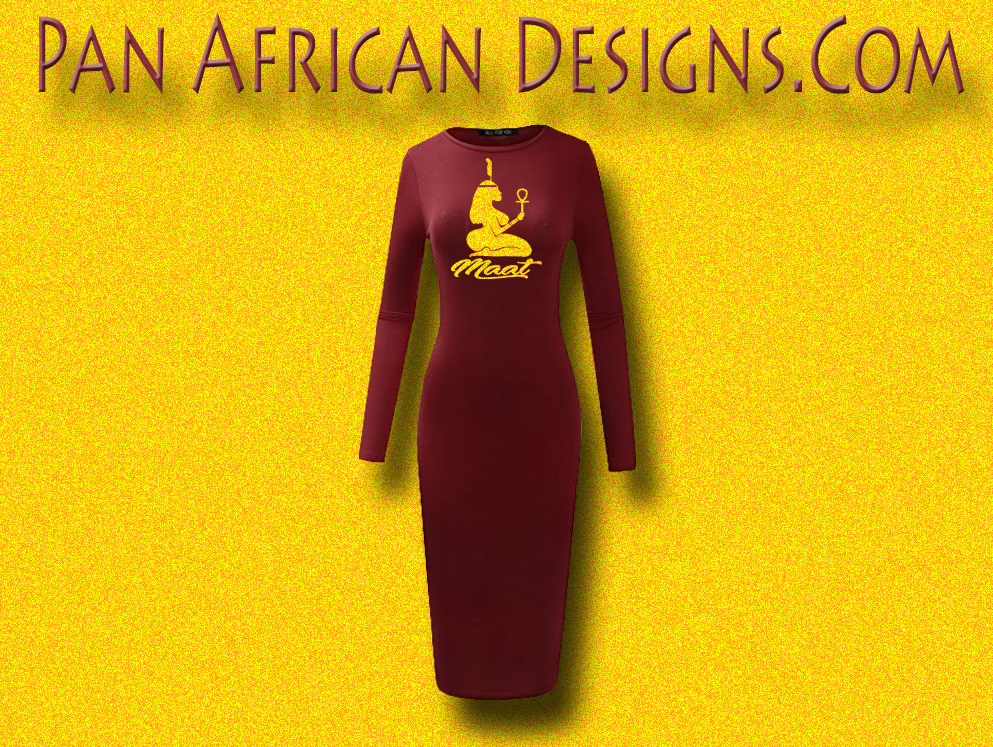 034423f400a0 Women s Maroon with Gold Glitter Long Sleeve Ma at Bodycon T-Shirt Dress