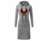 Women's Heather Grey with White String Heru Hoodie Dress
