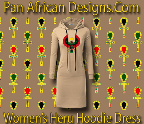 Women's Stone with White String Heru Hoodie Dress