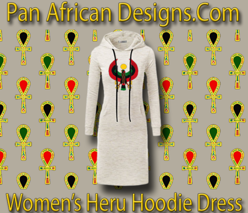 Women's Oatmeal with White String Heru Hoodie Dress