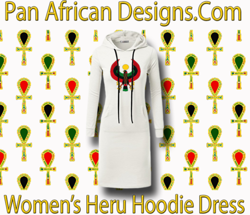 Women's White with White String Heru Hoodie Dress