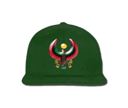 Men's Forest Green Heru Snap Back (Flexstyle Logo)