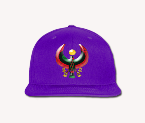 Men's Purple Heru Snap Back (Flexstyle Logo)