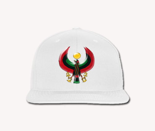 Men's White Heru Snap Back (Flexstyle Logo)
