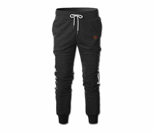 Men's Charcoal Grey and White Heru Slim Fit Lightweight Sweatpant (Tapper Bottom)