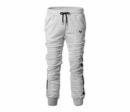Men's Heather Grey and Black Heru Slim Fit Lightweight Sweatpant (Tapper Bottom)