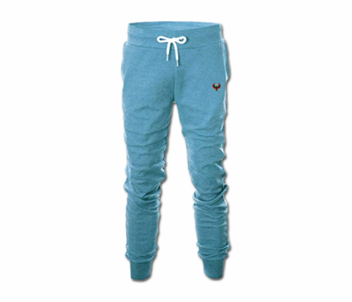 Men's Sky Blue Heru Slim Fit Sweatpant with Tapper Bottom (Draw String)