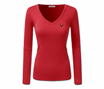 Women Heru L/S Sheer V-Neck T-Shirt