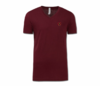 Men/Unisex Maroon Heru V-Neck T-Shirt