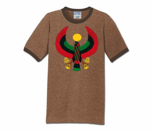 Men Brown with Brown Trim Heru T-Shirt