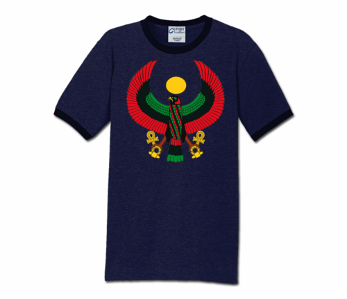 Men Heather Navy with Midnight Trim Heru T-Shirt