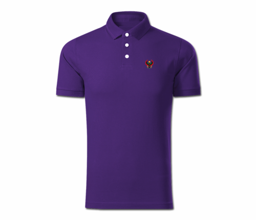 Men Purple Heru Collared Shirt